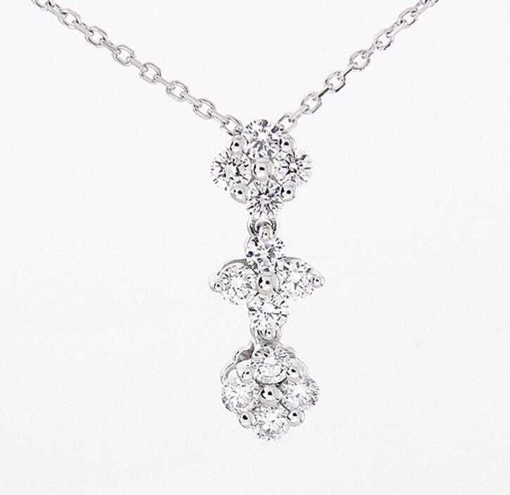 Idolra Jewelry S925 Silve Love four-leaf Clover Necklace