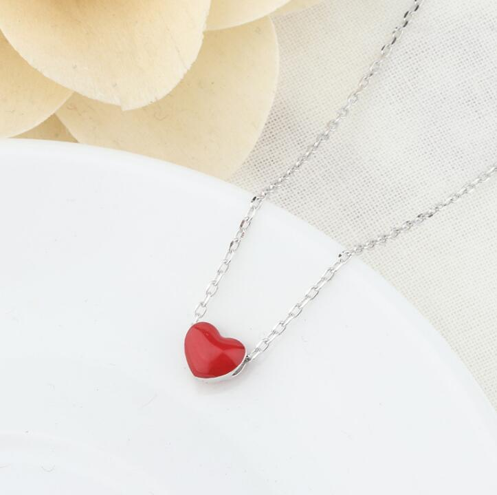 Idolra Jewelry S925 Silver Heart-shaped  Necklace
