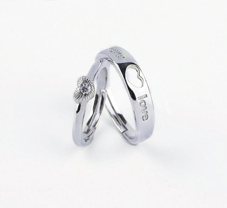 Idolra Jewelry S925 Silver Forever Love Heart-Shaped Ring
