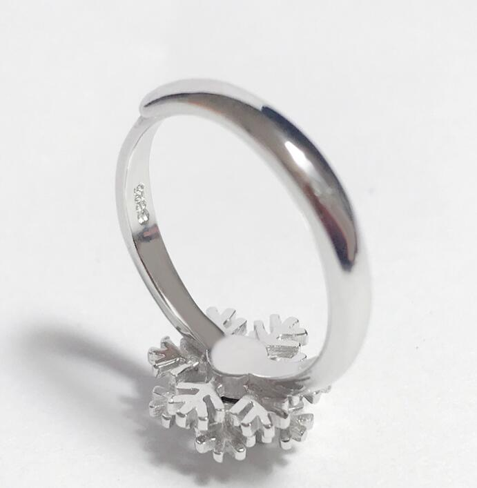 Idolra Jewelry S925 Silver snowflake with 3A Zircon Ring