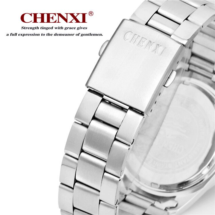 006 CHENXI Stainless Steel Band Quartz Movement Couples Watch