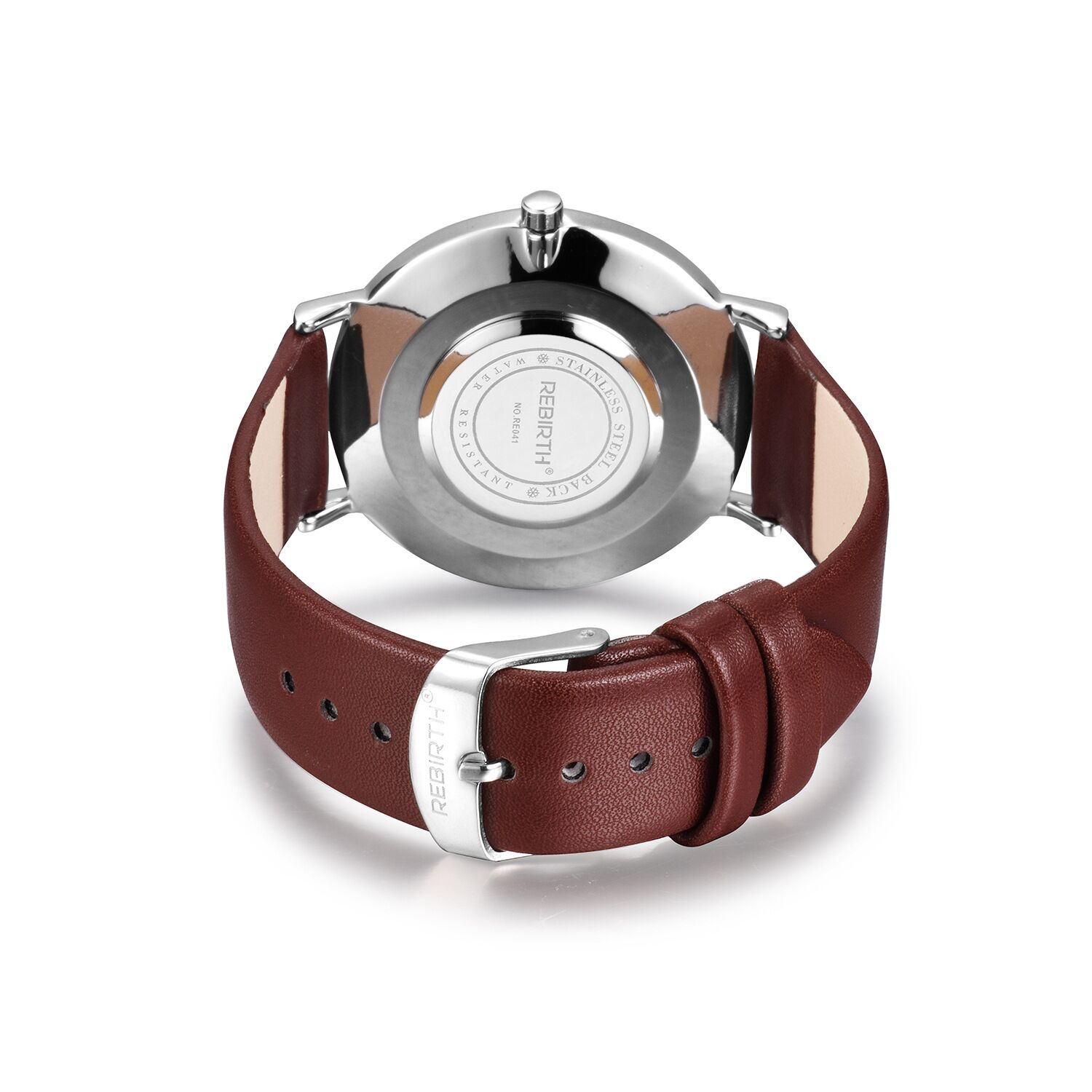 RE071 REBIRTH Quartz Movement Leather Band Watch