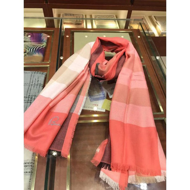 Burberryberry Pure Cashmere Long Scarf Red 06 2018 Collection