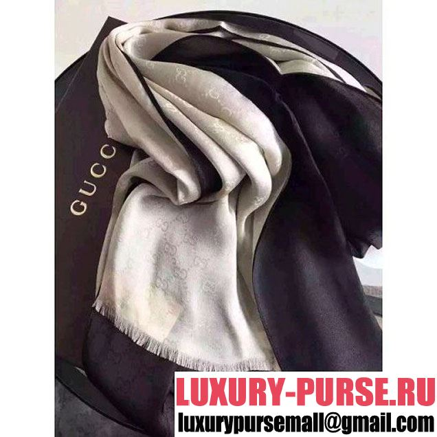 Gucci Two-Tone Silk Long Scarf (26) 2016 (A0-6040152 )