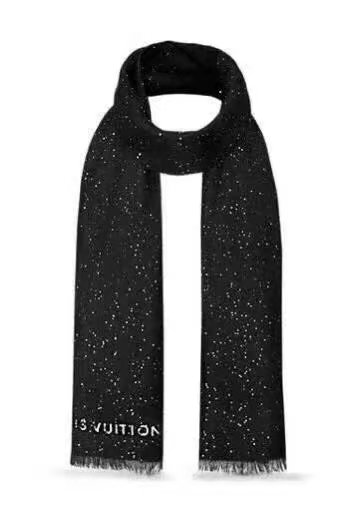 louis vuitton wool scarf LV919968 black - $159.00
