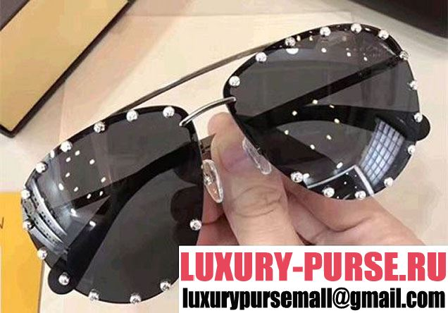 Louis Vuitton The Party Studs Detail Sunglasses 2017