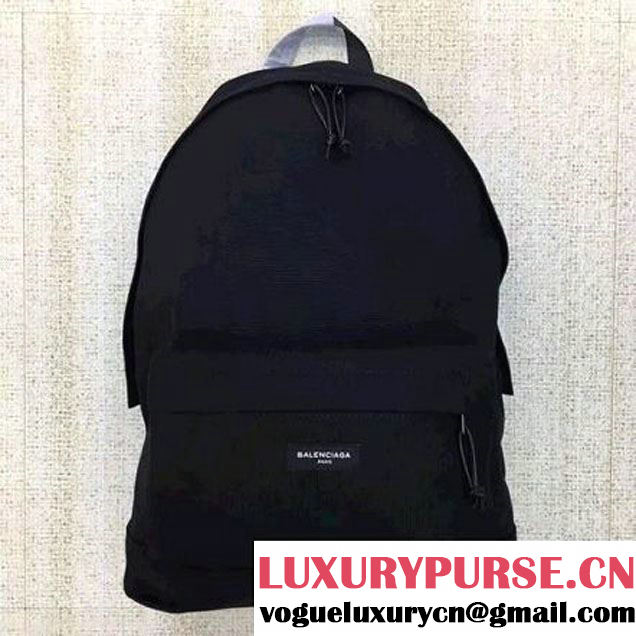 Balenciaga Explorer Cotton Canvas Backpack Black 2017 (JM-7103006 )
