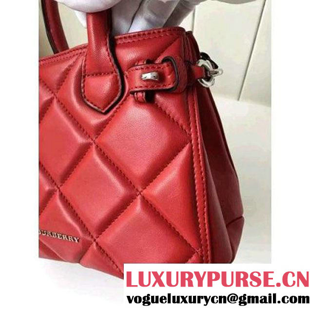 Bur. Baby Banner Bag In Red Quilted Lambskin 2016 (2A016-6070701 )