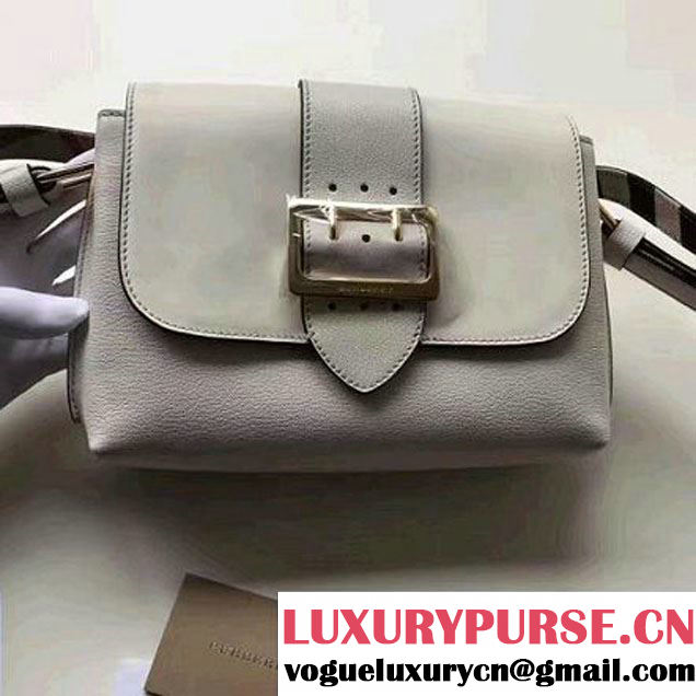 Burberry Buckle Crossbody Bag in White Calf Leather 2017 (2A016-7042507 )
