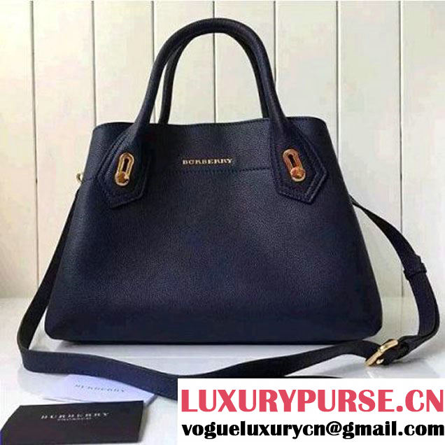 Burberry Small Milton Bag In Grainy Leather Deep Blue 2016 (2A016-6051804 )
