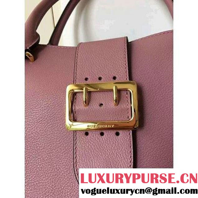 Burberry Medium Buckle Tote In Grainy Leather Pink 2016 (2A016-6082707 )