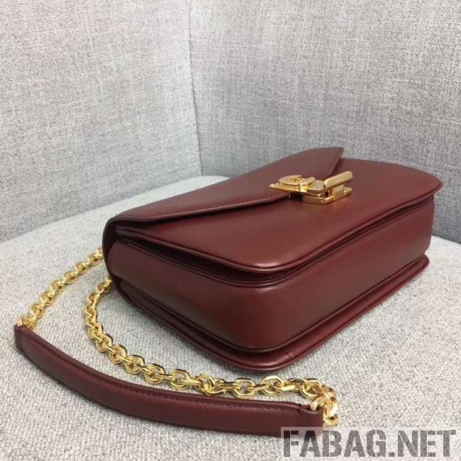 Celine Medium C Bag in Shiny Calfskin Burgundy 2019 (JDD-9011224 )