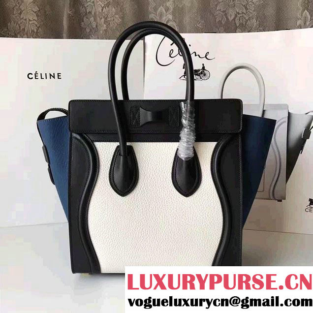 Celine Luggage Micro Tote Bag in Grained Leather 2017
