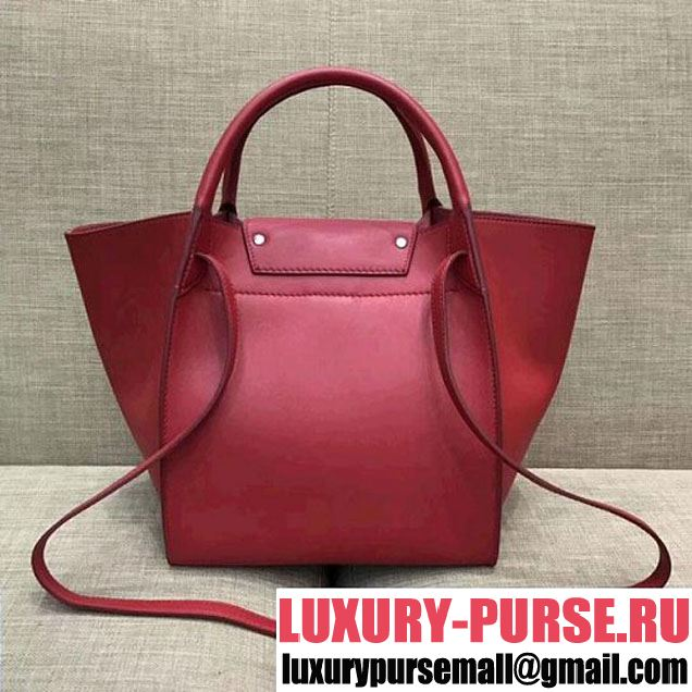 Celine Small Big Bag With Long Strap in Smooth Calfskin Red 2018 (1A021-7120601 )