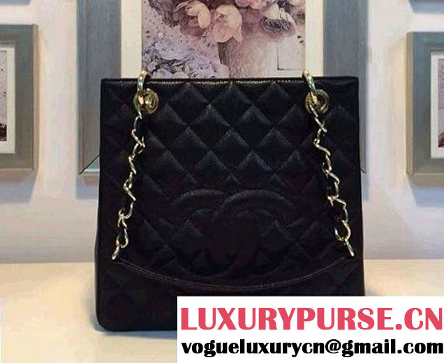 Chanel PST Petite Shopping Tote Bag A20994 Black