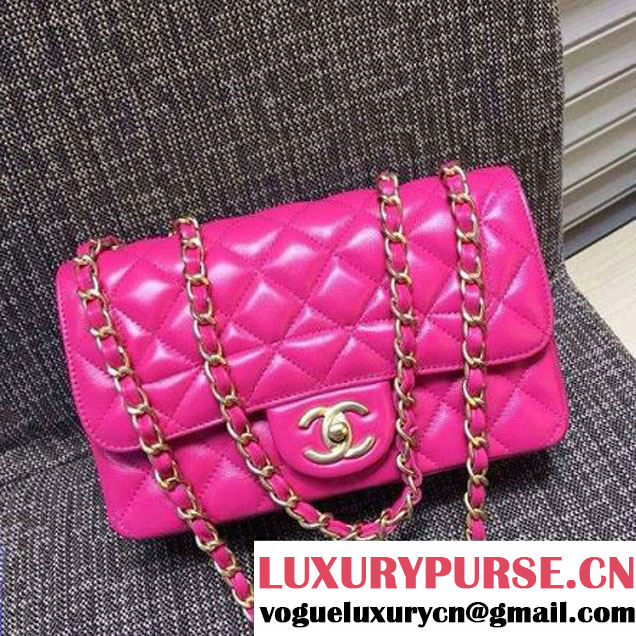 Chanel Quilting Lambskin Flap Bag In Rosy (FTH-121604 )