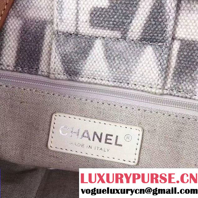 Chanel Iliad Printed Toile Large Shopping Bag A91746 2018 (2A043-7122116 )