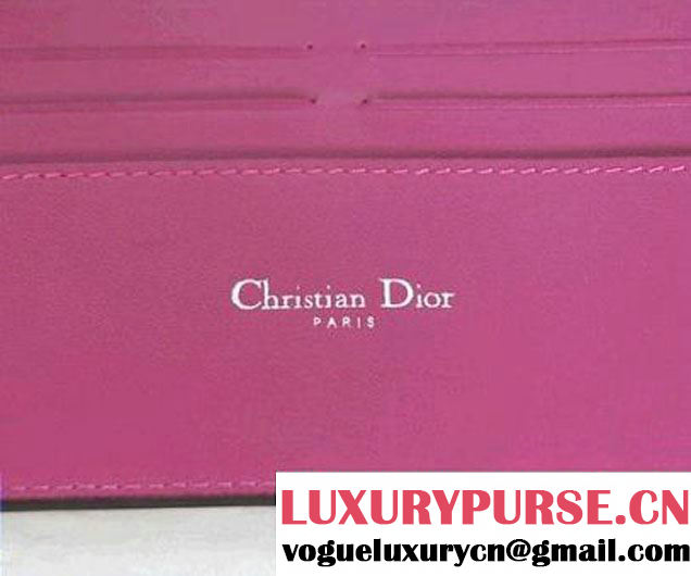 DIORISSIMO Long Leather Wallet Apricot
