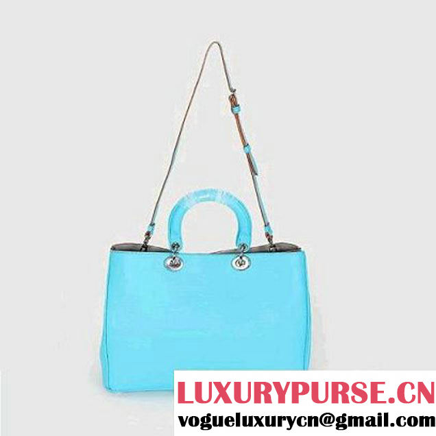 Dior Small Diorissimo Bag Nappa Leather Blue