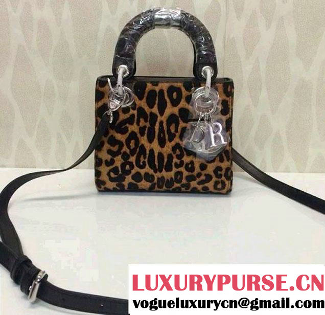 Dior Leopard Print Lady Dior Bag Brown Fall 2014