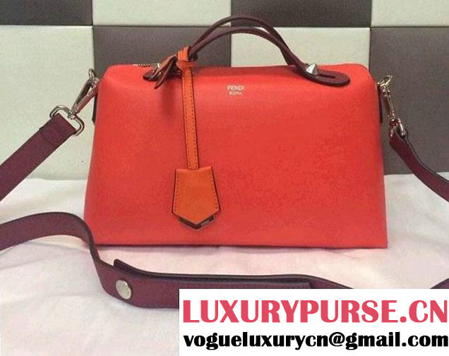 Fendi Tricolor By The Way Bag Red/Burgundy/Orange