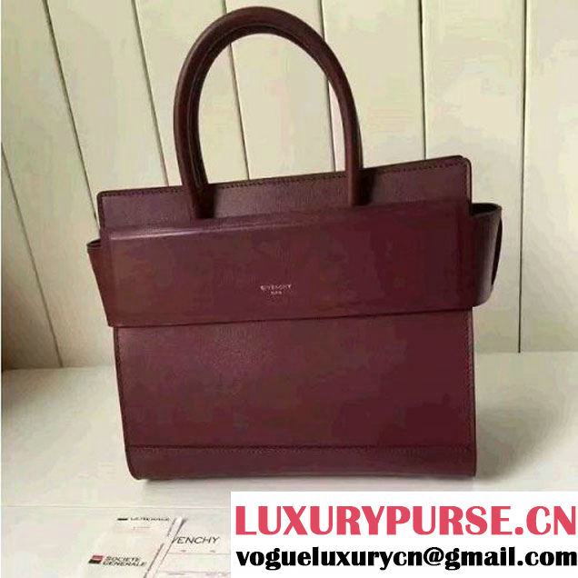Givenchy Small Horizon Bag In Burgundy Smooth Leather F/W 2016 (1A001-6080413 )