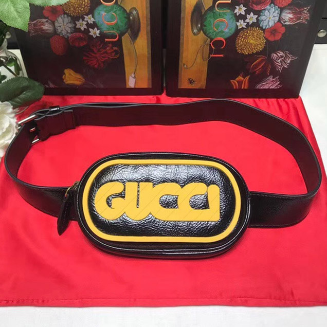 Gucci Belt Bag With Rubber Logo 529428