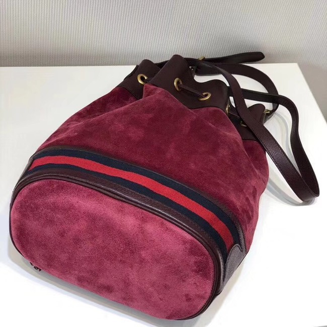 Gucci GG canvas Shoulder Bag 540457 red suede