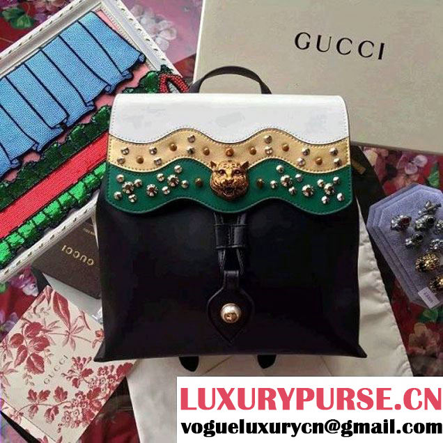 Gucci 432266 Leather Studded Backpack 2016 (SPM-6062914 )