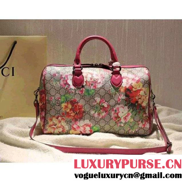 Gucci 409527 Blooms GG Supreme Top Handle Bag Fall 2015 (SPM-092114 )