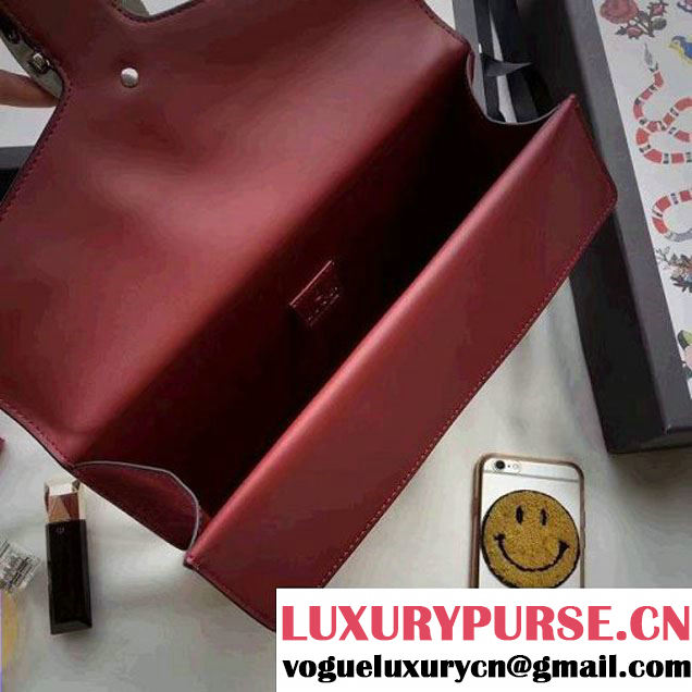 Gucci Dionysus Suede Clutch Bag Burgundy 2016 (SPM-6082315 )