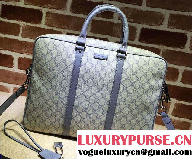 Gucci Briefcase Bag 201480 GG Plus Gray