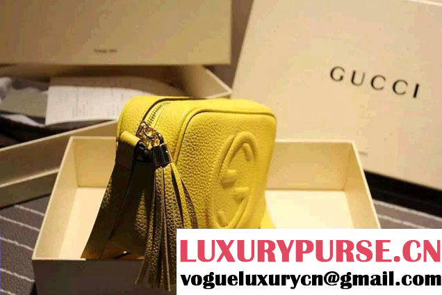 Gucci Soho Leather Disco Small Bag 308364 Yellow 2015