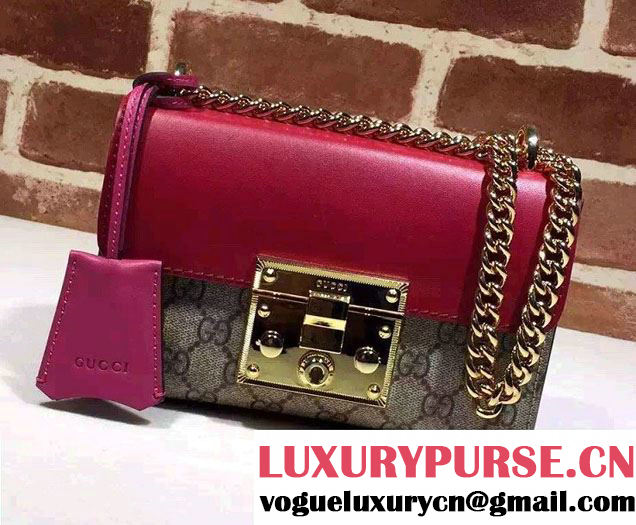 Gucci Padlock GG Supreme Shoulder Bag 409487 Red 2015/2016