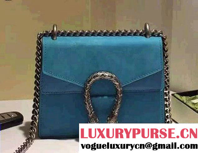 Gucci Mini Dionysus Suede Shoulder Bag 421970 Turquoise 2016