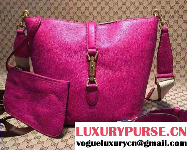 Gucci Jackie Soft Leather Bucket Bag 380579 Purple