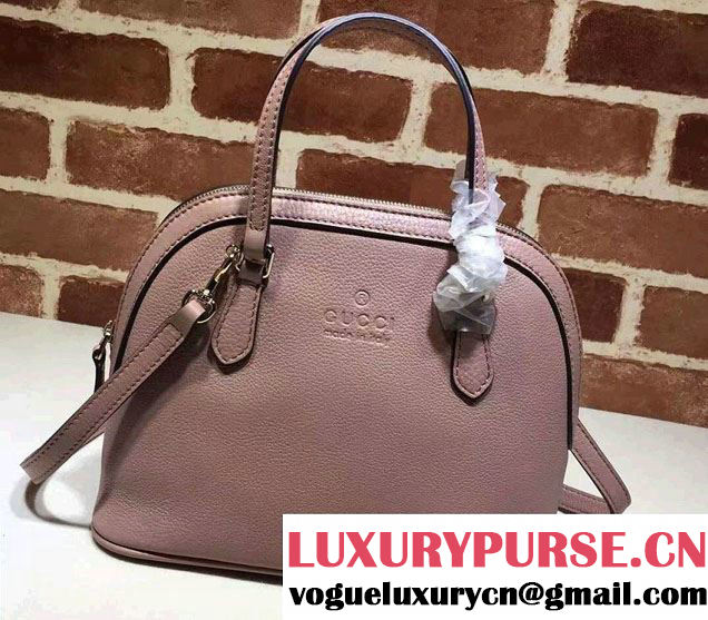 Gucci Convertible Mini Dome Leather Cross Body Bag 341504 Nude Pink