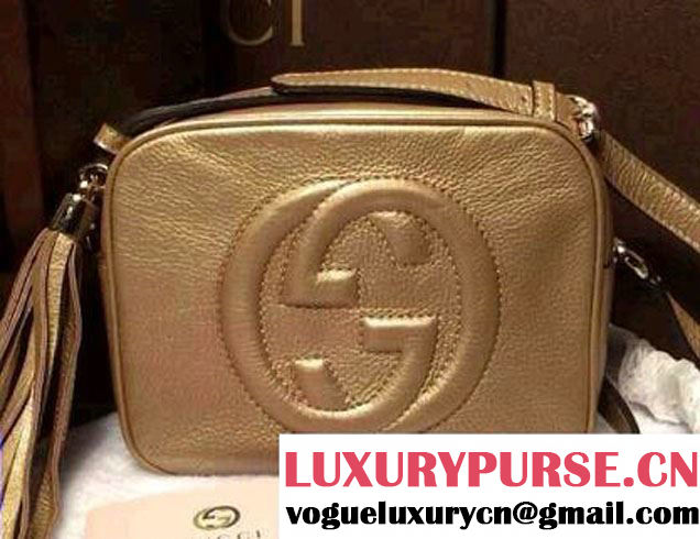 Gucci Soho Leather Disco Small Bag 308364 Gold