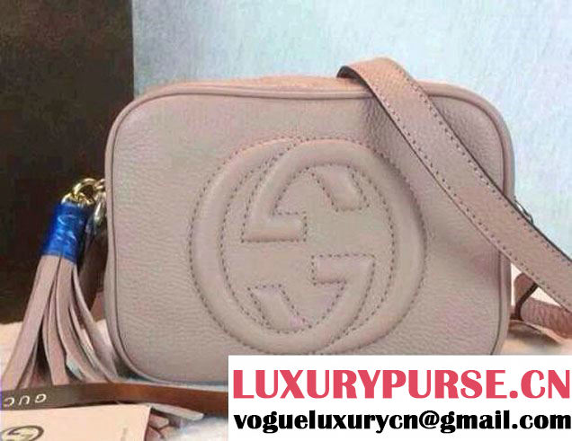 Gucci Soho Leather Disco Small Bag 308364 Nude Pink