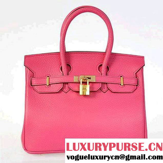 Hermes Birkin 25CM Tote Bags Togo Leather Peach Godlen