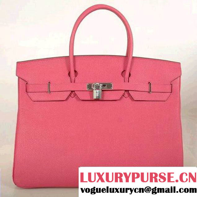 Hermes Birkin 40CM Togo Leather Tote Bag H40 Peach Silver