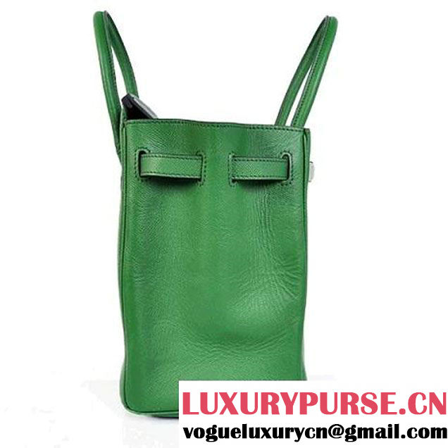 Hermes Birkin 35CM Tote Bags Togo Leather Mid Green Silver
