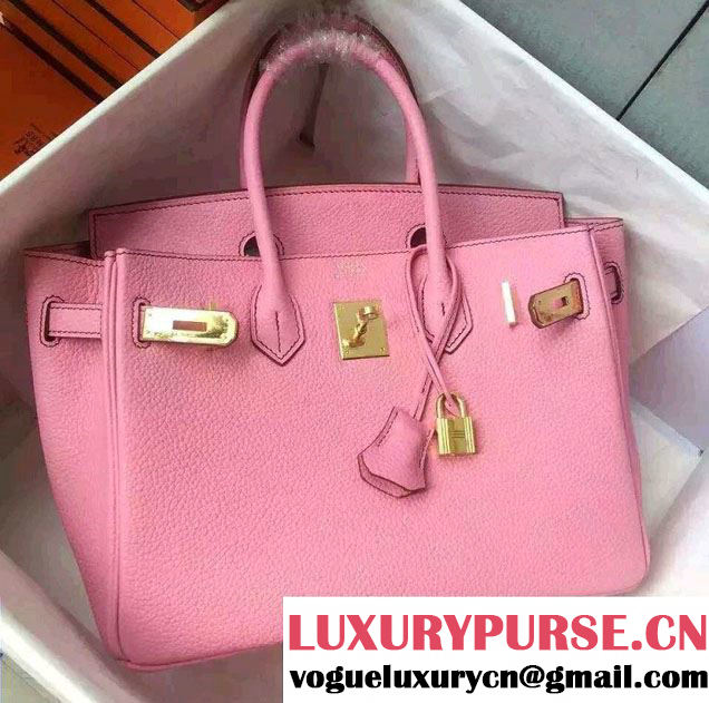 Hermes Birkin 30/35 Bag in Original Togo Leather Bag Pink