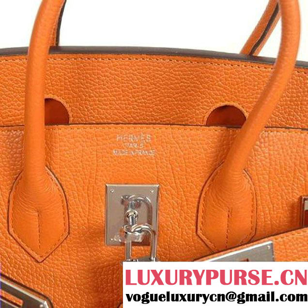 Hermes Birkin 30CM Tote Bags Smooth Togo Leather Orange