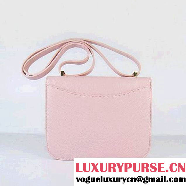 Hermes Constance Bag Pink Oxhide Leather Gold
