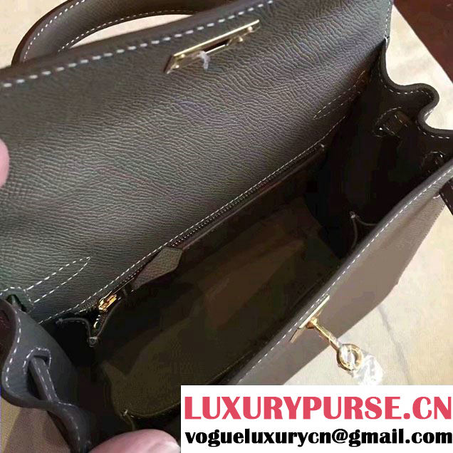 Hermes Kelly 28CM/32CM Bag In Original Epsom Leather With Gold/Silver Hardware Etoupe