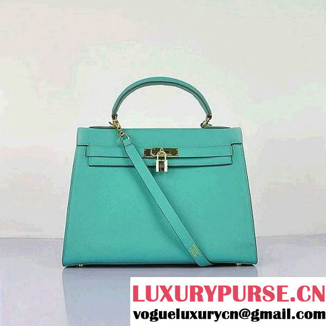 Hermes Kelly 32CM Bags Togo Leather Green Gold