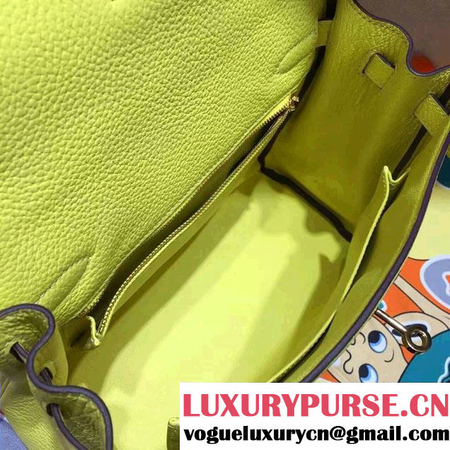 Hermes Kelly 28cm/32cm Bag in Original Togo Leather Yellow