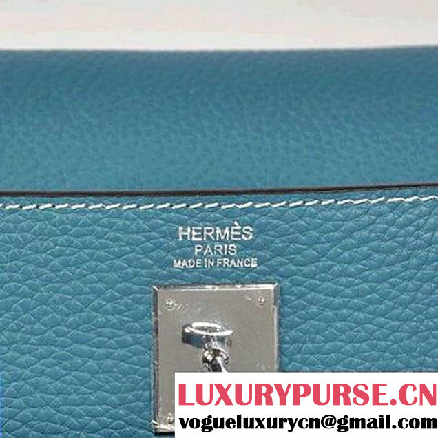 2012 Hermes Clemence Leather Bags Blue