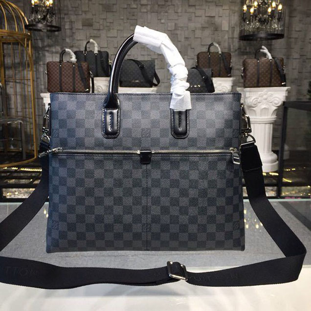 Louis Vuitton 7 Days a Week Bag 36cm Damier Graphite Canvas Fall Winter 2018 Collection N41564 Black